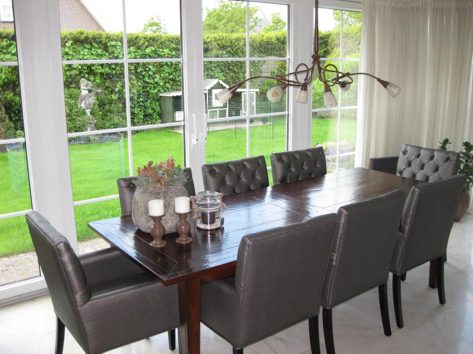 Landelijke eetkamerstoel bram bankstyle for Bruine eetkamerstoelen