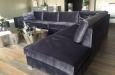 Maatwerk Style & Luxury hoekbank in velours stof