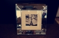 Kleine spiegellijst modern luxe 40 cm x 40 cm