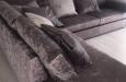 Hoekbank met ottoman stuk op maat in luxe stijl