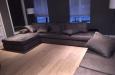 Hoekbank op maat in luxe stijl in velours stof Doppio