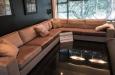 Maatwerk bank in hoek opstelling met luxe velvet stof