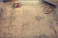 Landelijke katoenen vloerkleed met patroon